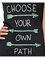 Empyre Choose Your Path Charcoal V-Neck T-Shirt