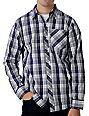 Empyre Colton Grey & Purple Long sleeved Woven Shirt