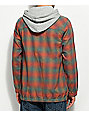 Empyre Dale Sunset Henley Hooded Flannel Shirt