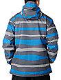 Empyre Decender Blue Stripe 10K Mens Snowboard Jacket