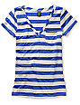 Empyre Diabolique Dazzling Blue Striped T-Shirt