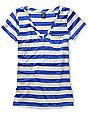 Empyre Diabolique Dazzling Blue Striped T-Shirt