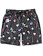 Empyre Dubtub 90s Geo Elastic Waist Board Shorts