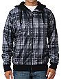Empyre Durand Charcoal Sherpa Mens Zip Tech Fleece Jacket