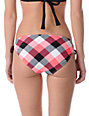 Empyre Ellis Coral Buffalo Plaid Tunnel Side Bikini Bottom