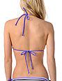 Empyre Fascia Teal & Purple Striped Bikini Top