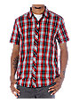 Empyre Finaled Black & Red Plaid Woven Shirt