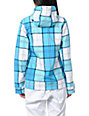 Empyre Fleeting Blue Plaid 10K Softshell Jacket