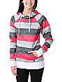 Empyre Frosty Black, Pink & White Pullover Tech Fleece Jacket
