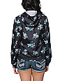 Empyre Girl Carmen Black Floral Print Windbreaker Jacket