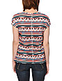 Empyre Girl Hatfield Coral & Lyons Blue Tribal Print Dolman Top