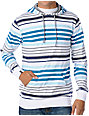 Empyre Go Big White Striped Pullover Hooded Shirt