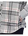 Empyre Grim Grey, Black & Red Hooded Flannel Shirt