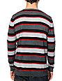 Empyre Harkin Red & Grey Stripe Sweater
