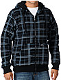 Empyre Hitch Black Plaid Sherpa Zip Up Hoodie