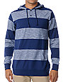 Empyre Hitch Blue Stripe Knit Henley Hoodie