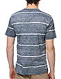 Empyre Ink Jet Black Striped Knit T-Shirt