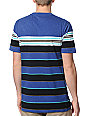 Empyre Into Navy Blue Striped Knit T-Shirt
