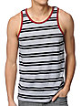 Empyre Jailbird Black & White Striped Tank Top