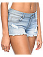 Empyre Jenna Light Wash Destructed Shorts