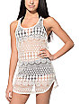 Empyre Kierra Cream Crochet Tank Dress