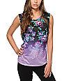 Empyre Lauryn Floral Dip Dye Muscle Tank Top