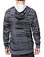 Empyre Let It Slide Charcoal Hooded Henley Pocket Shirt