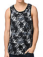 Empyre Lifes A Beach Black Tropical Print Tank Top