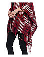 Empyre Maggie Cream & Burgundy Plaid Kimono