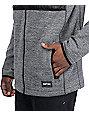 Empyre McMurdo Black Quilted Tech Fleece Zip Up Hoodie
