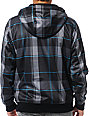 Empyre Mens Loiter Black Plaid Sherpa Tech Fleece Jacket