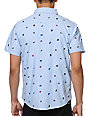 Empyre Mobbin Light Blue Print Woven Button Up Shirt