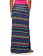Empyre Multi-Color Tribal Print Maxi Skirt