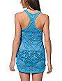 Empyre Neon Blue Crochet Tank Dress