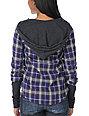 Empyre Paradox Purple Plaid Hooded Flannel Shirt