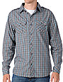 Empyre Principle Grey Plaid Woven Shirt