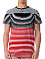 Empyre Prodigy Black & Red Striped Henley T-Shirt