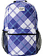 Empyre Purple Plaid Roll Call Laptop Backpack