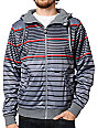 Empyre Ramos Grey & Red Striped Sherpa Tech Fleece Jacket