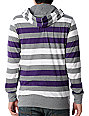 Empyre Recount White & Purple Hooded Knit Shirt