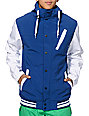 Empyre Rivalry Blue & White 10K Softshell Varsity Snowboard Jacket