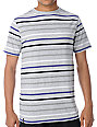 Empyre SK Grey Black & Purple Striped T-Shirt