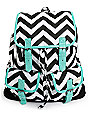 Empyre Serene Chevron Stripe Rucksack Backpack