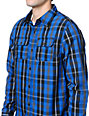 Empyre Shady Blue Plaid Button Up Shirt