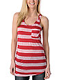 Empyre Shining Deep Clare Red Stripe Tank Top