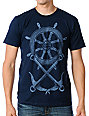Empyre Ship Wheel Navy T-Shirt