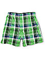 Empyre Sprinkler Green & Navy Plaid Boxers