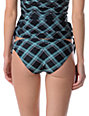 Empyre Stilt Black Plaid Cinched Basic Bikini Bottom