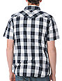 Empyre Stock Pile Black & White Plaid Woven Shirt