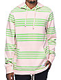 Empyre Switchback Pink & Green Striped Hoodie
